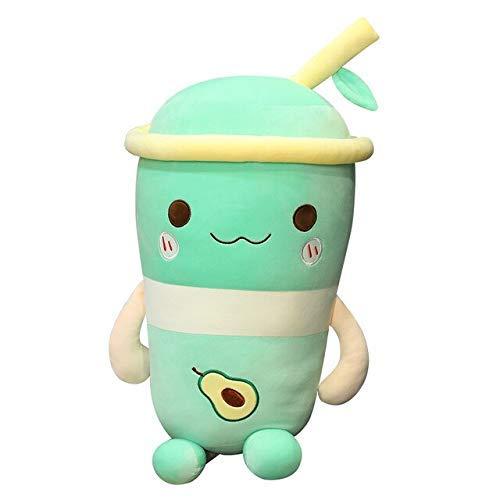Niedliche Spielzeug Teddy Tee Früchte Milch Lebensleine Gefüllte Früchte Wassermelone Banane Avocado Teetasse Kissen Spielzeug für Kinder Wohnkultur Laimi (Color : Verde, Size : 100cm)