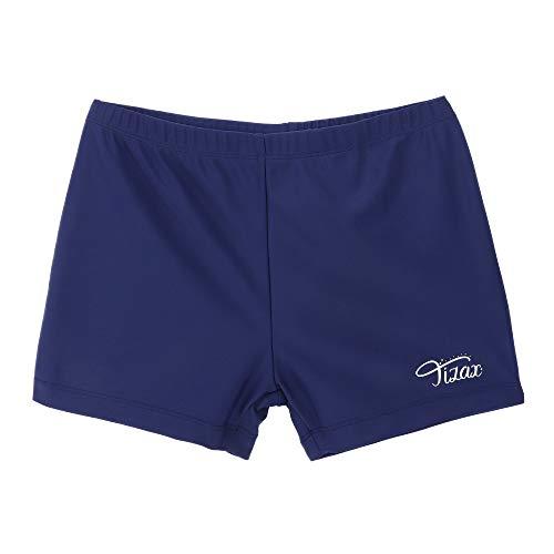 TIZAX Boxers de Natación para Niños UPF 50+ Protección Solar Bañador para Niño Azul Marino 6 años