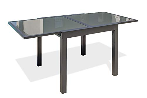 DCB GARDEN TOLEDE Table de Jardin, Anthracite