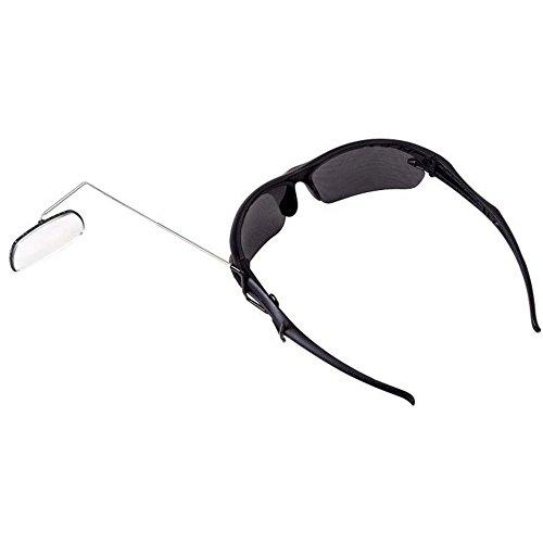 Ecrazybaby888 Leichte Aluminium-Legierung Sonnenbrille Helm montiert Fahrrad Spiegel, 360-Grad drehbar Radfahren Fahrrad Motorrad Rückspiegel, flexibel reflektierende Flache Spiegel, 1 Stück