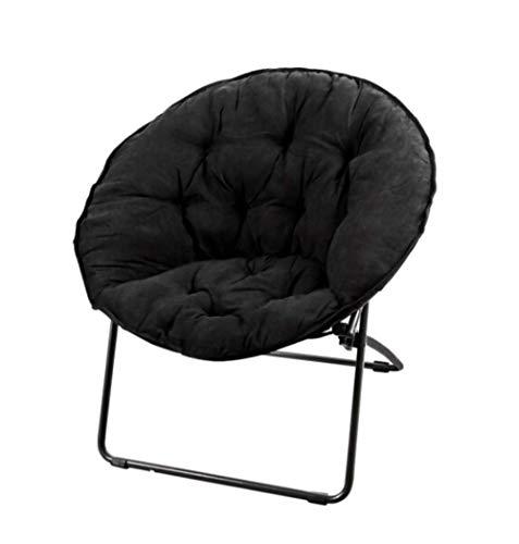 N/Z Muebles para el hogar Tumbona Negra Ocio Ligero Lazy Silla Informal Sofá de Tela Plegable Sala de Estar Dormitorio Oficina Silla de Siesta Cepillo Adhesivo