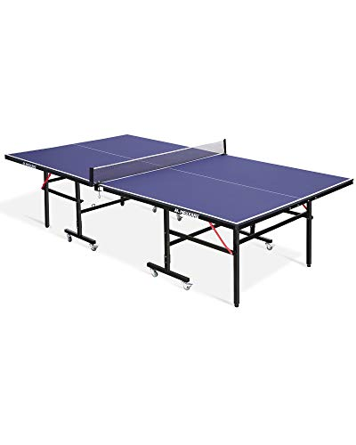 MaxKare Table Tennis Table Ping-Pong Table Set Outdoor/Indoor Home Foldable & Portable 100% Preassembled MDF Ping Pong Table with All-Weather Aluminum Composite Frame & Removable Net