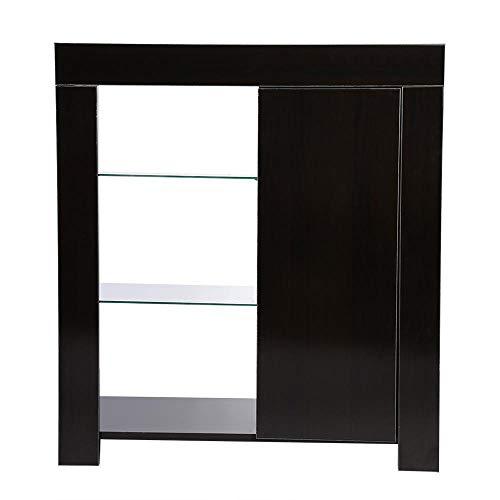 Jadpes Moderne keukenkast, moderne kast met LED-stripweergave, dressoir-opbergkast, afstandsbediening voor badkamer-medicijnkast, alleen uitsparing