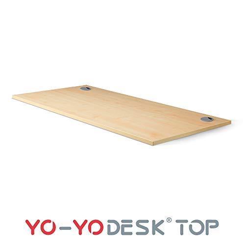 Yo-Yo DESK TOP I Tischplatte für einen höhenverstellbaren Stehschreibtisch, rechteckig I (Rechteckige Tischplatte (140x80 cm) Eiche)
