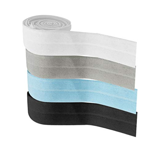 oshhni 4 Piezas de 10 Metros de Cordón Elástico Trenzado de Elasticidad para Pantalones Ropa
