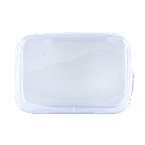 zhibeisai Transparent Cosmetics Bag Zippered Toiletry Pouch Clear Portable Bathroom Waterproof Makeup Bag