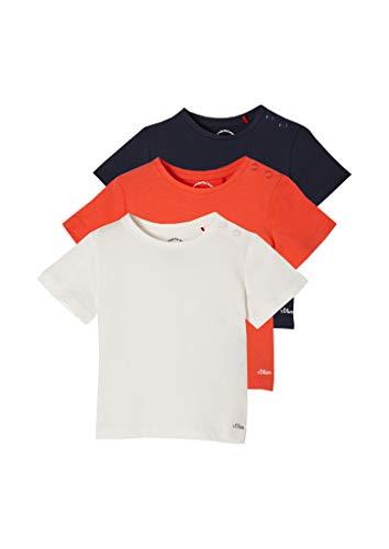 s.Oliver 405.10.103.12.130.2100779 Camiseta, Blanco Roto/Rojo/Azul Marino, 18 Meses Unisex bebé