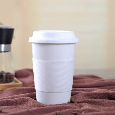 tuyuzhen Keramik Tasse Einlagige Le-Button Tasse Silikon Ärmel Geschenk Tasse Werbe-werbe-Tasse 350ML E