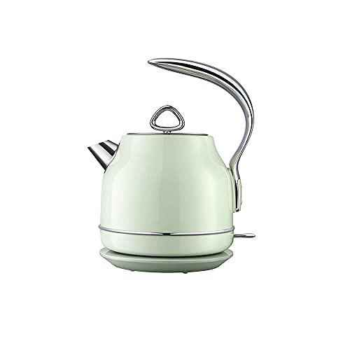 Calentador de hervidor eléctrico de 1,2 litros con acero inoxidable, calentamiento rápido de 1500 vatios, hervidor de café y hervidor de té, con apagado automático y protección para hervir y secar