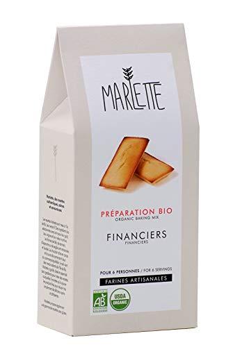 MARLETTE - Préparation Bio pour Financiers - Préparation bio - Matières premières locales - 250g - Blanc