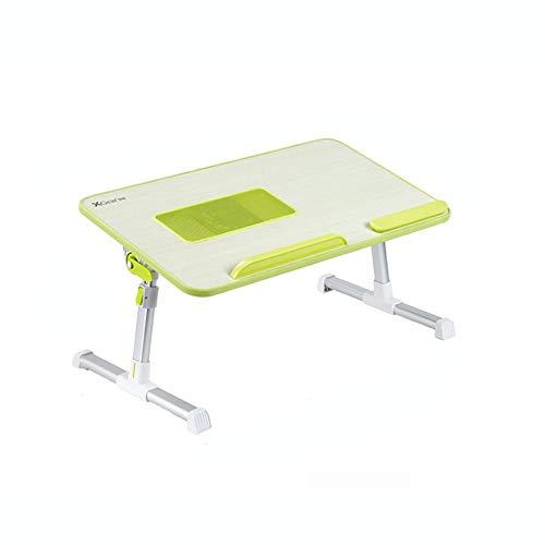 WTT verstelbaar bed met tafel Het maken van een laptop bureau Vouwen multifunctionele opklaptafel voor stents (3 optionele kleuren) (60 * 33 cm) Kan worden gedraaid (Kleur: A)