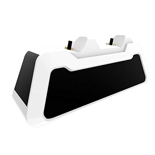 Leiouser - Cargador con mango y cargador USB para PS5, mando de juego