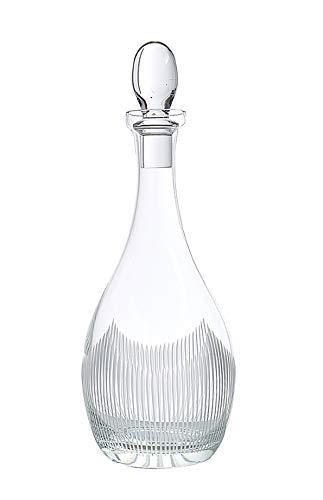 Glazze Crystal Abaigail Premium Glass Custom Cut and Crafted Designs | Luxury Hand-Blown Wine Decanter Aerator | Ideal Wedding & Housewarming G, 13' H 42 Oz capacity