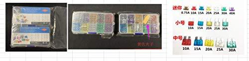 QLOUNI 220 Stück Standard & Mini Auto Sicherungen, KFZ Sicherungen Set, Flachsicherung, Autosicherungen 2A 3A 5A 7.5A 10A 15A 20A 25A 30A 35A mit 1 Sicherungszieher