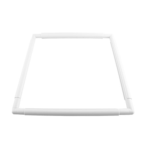 Universal Clip Frame, Square Plastic Embroidery Cross Stitch Frame for Embroidery, Quilting, Cross-Stitch, Needlepoint, Silk-Painting (43.1×43.1cm)