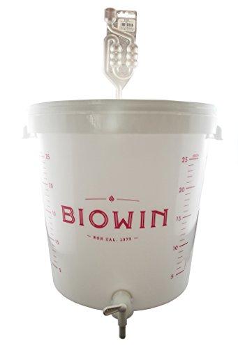 Beste Angebote Gärbehälter 30L + Deckel + Gärrohr + Hahn Gäreimer Eimer Wein Gärfass Gärballon