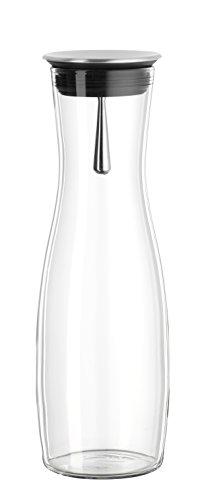Bohemia Cristal 093 006 104 SIMAX Karaffe ca. 1250 ml aus hitzebeständigem Borosilikatglas mit praktischem Ausgießer aus Edelstahl