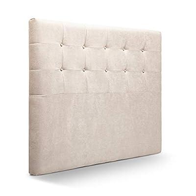 Cabecero tapizado acolchados para dormitorios con estructura en madera de pino Cabecero acolchado tapizado para cama. Cabeceros de cama 150 cm Cabecero cama para colgar en la pared. Acolchado con espumacion de Hr. Cabecero cama para colgar en la pare...
