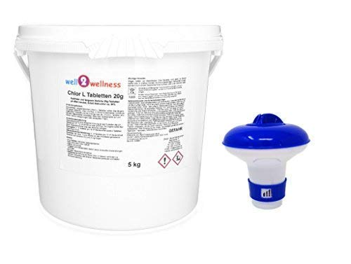 Well2wellness Cloro L Tabletas 20G - Mini Cloro Pastillas Disolución Lenta a...