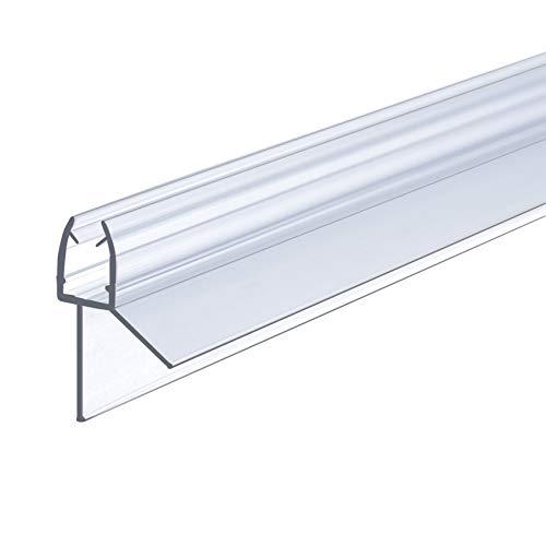 IMPTS Duschtür Dichtung, 100cm Duschdichtung für 5mm, 6mm Glasdicke, Ersatzdichtung Duschkabine Wasserabweiser Schwallschutz Dichtkeder - Transparent