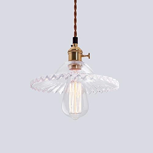 Lustres antiques en fer forgé, rétro simple LED en verre éclairage table à manger petites lampes de plafond industriel allée bar balcon pendentif lumière (Design : A)