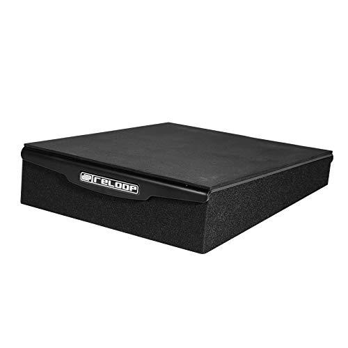 Reloop sMonitor Pad 8 PRO - Absorber Unterlage für alle gängigen 8'' Monitorboxen aus Polymerschaum und integrierter Metallplatte, schwarz