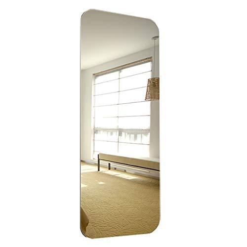 Slaapzaal student vloer spiegel muur stickers zelfklevende ijdelheid spiegel eenvoudige ronde afgeschuinde volledige lichaam spiegel zonder grens grote spiegel 40x120cm-Fillet