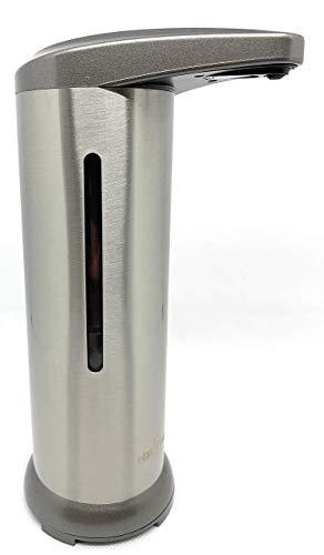 H2O Taps - Dispensador Automático de Jabón y Desinfectante o Liquido Hidroalcoholico en Acero Inoxydable - Base Impermeable para Cocina, Hotel, Restaurante, Bar