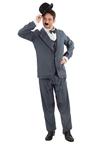 ORION COSTUMES Herren Stan Laurel Stummfilm 1920er Jahre Themenspezifischer Film Maskenkostüm