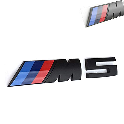 3D Car M3 M5 ABS Rear Trunk Emblem Badge Sticker Decals for BMW 3 5 Series (Black M5)