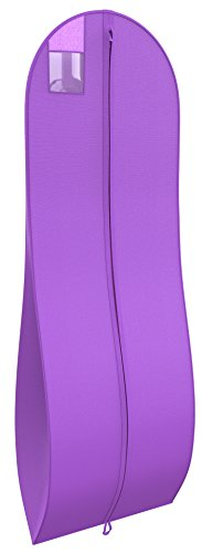 "Women's Gown Garment Bag - For Wedding Dresses, Prom Dress - 72""x24"", 10"" Gusset"