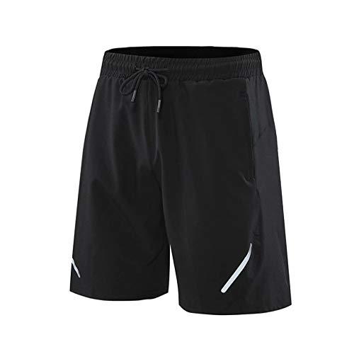 Pantalones Cortos Deportivos para Correr de Secado rápido para Hombre, Pantalones Cortos Deportivos de Moda con Cintura elástica, Pantalones Cortos básicos cómodos Informales, Verano S