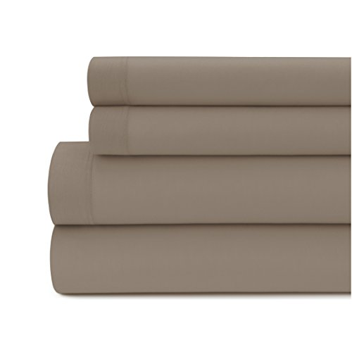 Briarwood Home Jersey Knit Bed Sheet Set – 100% Modal – Heavy Weight, T-Shirt Soft, Cozy 4 Piece Bedding – Deep Pocket, Fade & Wrinkle Free, All Season Breathable Sheets (California King, Taupe)