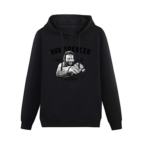 Jianan Mens Hooded with Drawstring Pockets Kurqac Bud Spencer Terence Hill Altrimenti Hoodies Long Sleeve Pullover Loose Hoody Sweatershirt Black XL