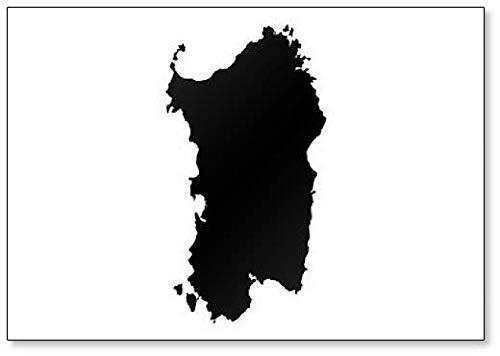 Sardinië Map Outline - Koelkast Magneet