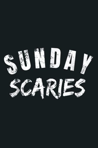 Sunday Scaries Funny Lazy Sunday Anxiety: Notebook Planner - 6x9 inch Daily Planner Journal, To Do List Notebook, Daily Organizer, 114 Pages