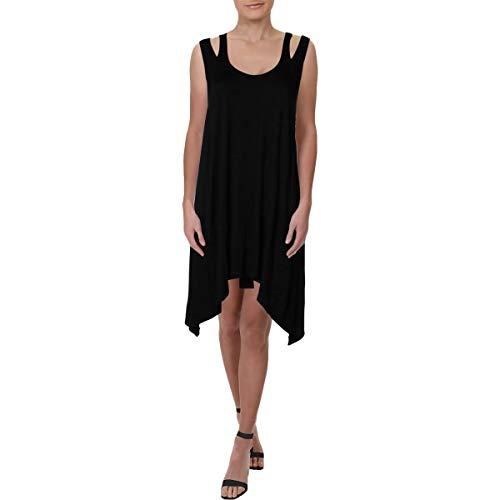 J. VALDI Womens Cover Up Sleeveless Tank Dress Black S