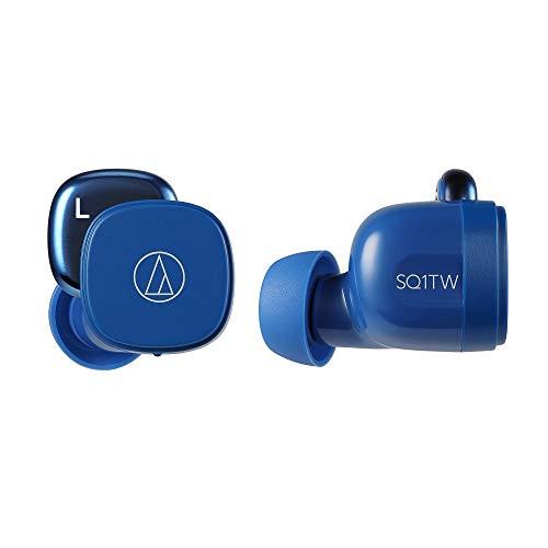 audio-technica 完全ワイヤレスイヤホン 低遅延 防水・防滴仕様 急速充電対応 最大約19.5時間再生 ブルー ATH-SQ1TW BL