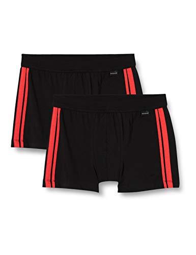 Schiesser Herren Shorts 2er Pack Unterhose, Multicolor 3, XL