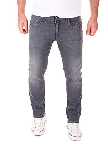Yazubi Stretch Jeans Herren Akon Slim - Jeans Hosen für Männer - Schwarze Vintage Denim Hose Jeanshose Regular, Grau (Tornado 183907), W34/L34