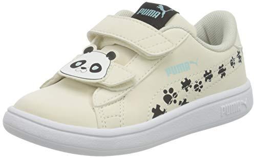PUMA Smash v2 Summer Animals Baby Sneaker Eggnog-Puma Black UK 8_Infant_FR 25