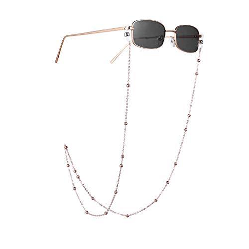 Xniral Herren Damen Brille Unisex Cateye Sonnenbrille mit Rutschfest Brillenkette, Brillenetui, Brillentuch (N)