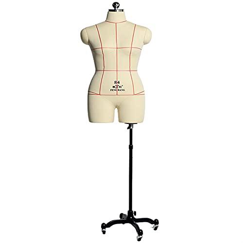 HWF Maniqui Costura Modista Busto Talla Extra Mujer Forma del Vestido Maniquí para Coser, Mujeres Ajustable Dummigos fantásticos Maniquí Pararse para la modista de Sastre Muestra de Ropa