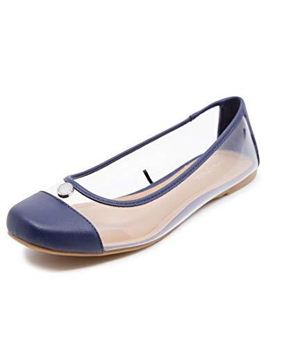 Nautica Women's Clear Slip On Shoes Ballet Casual Soft Dress Walking Flats-Vania-Navy-8