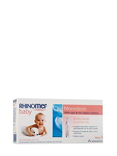 Rhinomer Baby, 100% Agua de Mar Natural e Isotónica, Monodosis 20 x 5 ml