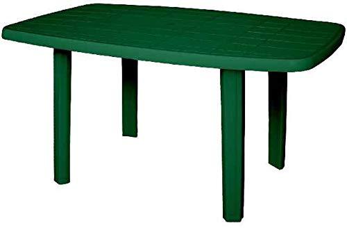 ARETA ARE033 Tavolo, Modello Sorrento, Verde, 140 x 80 x 72 cm