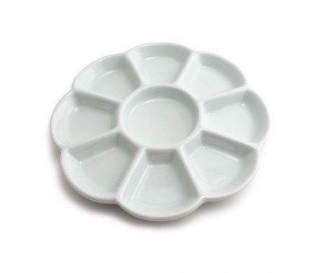 paleta de ceramica porcelana circular de 19 cm