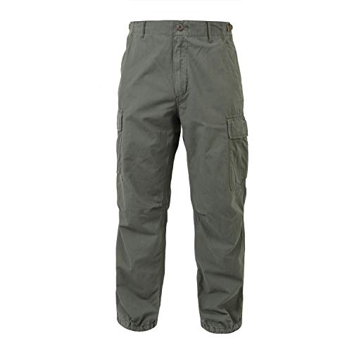 Rothco Vintage R/S Vietnam Fatigue Pants, Olive Drab, Large