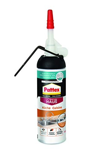 Pattex PKSKT Küchen Silikon Spender, einfache Anwendung ohne Kartusche