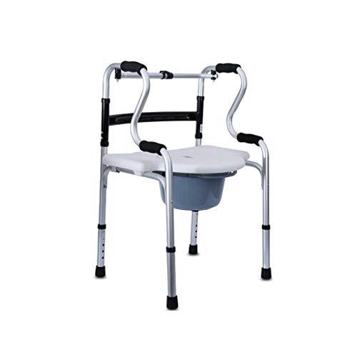 JJZXPJ opklapbare nachtkastjes, wc-stoelverhoger, antislip, met potten, gevoerde armleuning, commode stoel commode wc-bril geschikt voor zwangere vrouwen, gehandicapten, patiënt